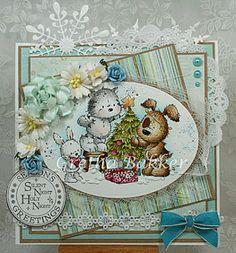 "Lili of the Valley ""Fairy Lights"" (Het kaartenhoekje van Gretha) Christmas Mix, Christmas Animals, Christmas Crafts, Xmas Cards, Holiday Cards, Scrapbook Cards, Scrapbooking, Color Crafts, Animal Cards"