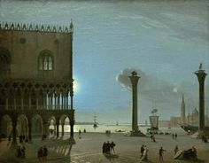 IPPOLITO CAFFI  1809  -  1866  Neve a San Marco