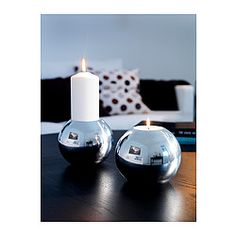 IKEA - NÄSSJÖ, Candle holder, One side is suitable for a block candle and the other for a large tealight.