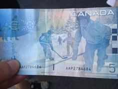 Canadian Money has hockey players on it