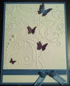 bridal shower card for a purple and teal butterfly themed wedding (Change the colors for mine...)