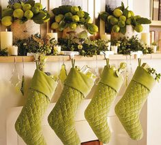 Lime Green Look 12 Days Of Christmas Noel Colors White