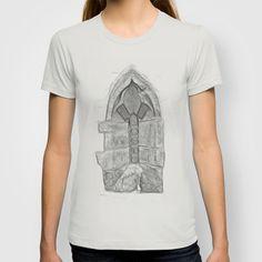 Medieval Church Window T-shirt by Rainer Steinke - $18.00 church window drawing pencil bleistift zeichnung fenster kirche mittelalter medieval #church #window #drawing #pencil #bleistift #zeichnung #fenster #kirche #mittelalter #medieval