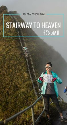 Stairway to Heaven hike also known as haiku stairs on Oahu, Hawaii. Hawaii hikes. Things to do hawaii. Things to do Oahu   Aglobalstroll.com Hawaii Honeymoon, Aloha Hawaii, Hawaii 2017, Visit Hawaii, Honolulu Hawaii, Stairway To Heaven Hawaii, Oahu Things To Do, Hawaii Hikes, Moving To Hawaii