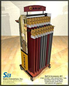 Belt and Accessory POP display I Ariat I Need a custom display made? I www.sharndisplays.com