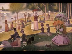 """#peach enjoys """"A Sunday on La Grande Jatte""""   by Guillaume Colomb   original painting by Georges Sauret, 1884-1886"""