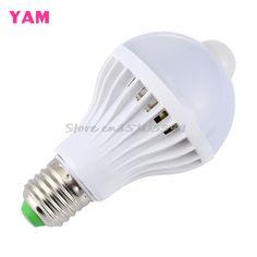 E27 5 wát/7 wát/9 wát led pir motion cảm biến năng lượng tự động saving ánh sáng đèn bulb infrared-y121 chất lượng tốt nhất