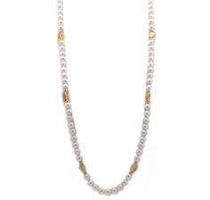 14K Yellow Gold Freshwater Pearl & Gemstone  Necklace $439.99   FIVE STAR REVEIW