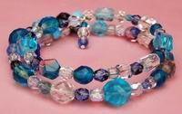 making jewelry, memory wire bracelet