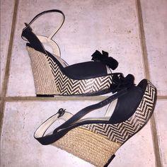 """C Label wedges Adorable C Label wedges. Heel is 3 1/2-4"""". Size 8, fits a bit big C Label Shoes"""