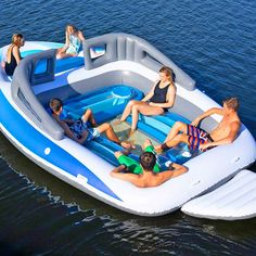 6 Person Inflatable Bay Breeze Boat Island Party Canada - Island Picture and Informations Island Water Sports, Inflatable Floating Island, Boat Tubes, Base Nautique, Giant Pool Floats, Lake Rafts, Lake Floats, Wakeboard Boats