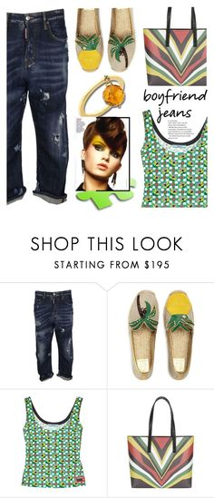 """Anastazio-Borrowed from the Boys: Boyfriend Jeans"" by anastazio-kotsopoulos ❤ liked on Polyvore featuring Dsquared2, Tory Burch, Prada, Elena Ghisellini and Anastazio"