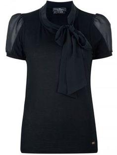 Ladylike style -SALVATORE FERRAGAMO pussy bow blouse.jpg