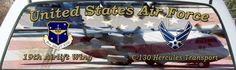 USAF 19th Airfirce Airlift Wing Custom Rear Window Graphic Mural.