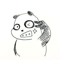 【一日一大熊猫】2016.11.8 イイ歯の日。 #パンダ #歯 #いい歯の日