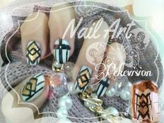 Nail Art Outfits inspired. I use @bornprettystore Nail Polish Gold Color to do it. www.bornprettystore.com Decoración de Uñas inspirada en Trajes/ Vestidos/ Zapatos. Use un esmalte color oro de la marca Born Pretty Store.