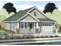 ePlans Country House Plan –1581 Square Feet and 3 Bedrooms from ePlans – House Plan Code HWEPL75866