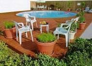 deck for above ground pool - Google Search