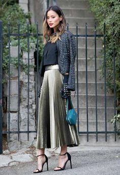 pleated sequin skirt-Christmas Eve party dresses – Just Trendy Girls