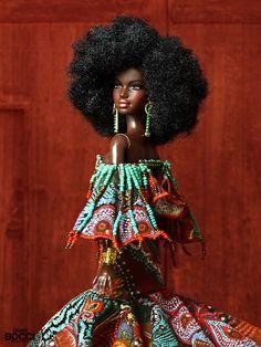 African Dolls, African American Dolls, Beautiful Barbie Dolls, Pretty Dolls, Fashion Royalty Dolls, Fashion Dolls, Original Barbie Doll, Barbie Fashionista Dolls, Afro