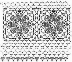 Häkelmuster Fundgrube: Netz-Shirt mit Blumen-Granny-Squares