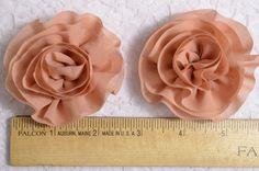 Set of 4pcs Handmade chiffon flowerstoffee FB1015 by AsecInc