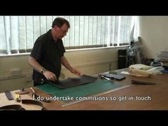 making an iPad bag from hand stitched leather - YouTube