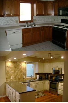 Mobile Home Kitchen Cabinets Remodel . Classy Mobile Home Kitchen Cabinets Remodel . Mobile Home Kitchen Remodel Ideas Best 20 Unique Design for Kitchen On A Budget, Kitchen Redo, New Kitchen, Kitchen Ideas, 1960s Kitchen, Kitchen Mats, Ranch Kitchen, Long Kitchen, Narrow Kitchen