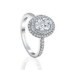 Boodles Double Vintage Oval diamond engagement ring in platinum