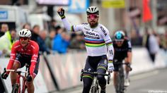 Slovakia's Peter Sagan raced to victory in today's 69th edition of the cycling classic Kuurne-Brussels-Kuurne. The 27-year-old world champion beat Fleming Jasper Stuyven and Britain's Luke Rowe at the finish.