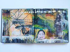 """message attempted"" journal spread (by bun) - artist: Roxanne Coble"