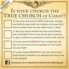 Is your Church the True Church of Christ?