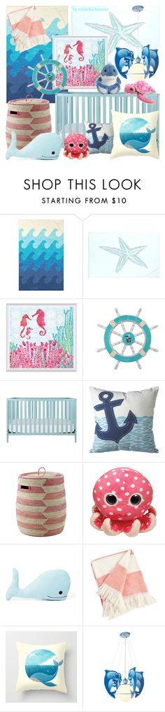 """""""Ocean Themed Nursery"""" by rochellechristine ❤ liked on Polyvore featuring interior, interiors, interior design, home, home decor, interior decorating, e by design, Universal Lighting and Decor, Dot & Bo and Forever 21"""