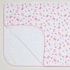 A lovely soft blanket for your baby girl from Kissy Kissy. Made from a double layer of 100% Peruvian pima cotton for softness and comfort. This blanket has cute colourful prints of butterflies, flowers and hearts and fuschia embroidered trim. It's perfect for wrapping baby up at home, use in car seat, baby stroller or nursery …