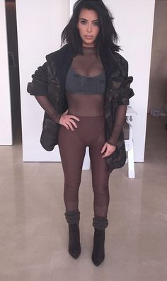 kimkardashian My look for the Yeezy show!!!!!! Yeezy head to toe!!!!!