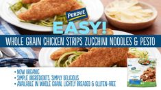 It's so easy to swap out pasta for a veggie alternative! Zucchini makes for the perfect noodle to accompany our chicken. Weeknight Meals, Easy Meals, Pesto Zucchini Noodles, Pesto Chicken, Healthy Alternatives, Spin, Veggies, Nutrition, Pasta