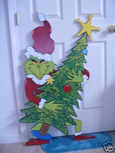 Hand Made Grinch and Tree Christmas Yard Art Decoration | eBay