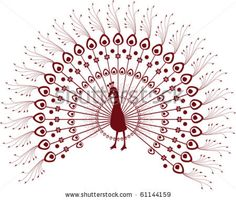 Traditional Indian henna design of a peacock by Veyronik, via Shutterstock