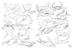 Animal Studies: Manta Rays by Tigerhawk01 on DeviantArt