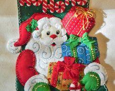 Santa Bucilla nórdico 18 terminado por MissingSockStitchery en Etsy