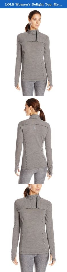 LOLE Women's Delight Top, Medium, Black Stripe. Ideal for layering, this zip neck LOLE top is made of 100 percent Merino wool with natural antibacterial properties.