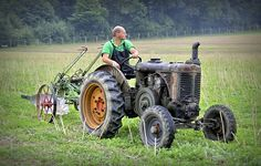 Landini L 25 tractor and plow