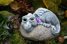 Baby Dragon Statue Devious Devlin Garden Decor by PhenomeGNOME