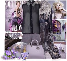 """""""Purple day"""" by franzine ❤ liked on Polyvore"""