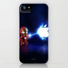 (Blu)Baby Ironman...damn apple! it's too hard to destroy!!!! iPhone Case by Emiliano Morciano (Ateyo) - $35.00