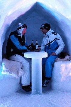 Ice bar - Alpeniglu Village at Hochbrixen in Brixen im Thale, Austria