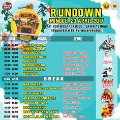 """~ RUNDOWN ~ """"MRONO MRENE SENENG EXPLOTION 2017"""" MINGGU 23 APRIL 2017 @LAPANGAN PURWOSARI KUDUS (depan Balai Desa Purwosari) 08...."""