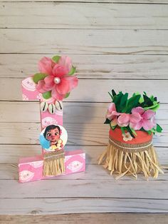 Moana Theme Birthday, Hawaiian Birthday, Luau Birthday, First Birthday Parties, First Birthdays, Moana Centerpieces, Birthday Centerpieces, Festa Moana Baby, Lilo E Stitch