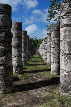 Group of a Thousand Columns at Chichén Itzá, Mexico
