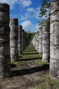 Group of a Thousand Columns at Chichén Itzá, Mexico